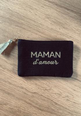 Pochette Maman d'amour Noir Taille S  Mila