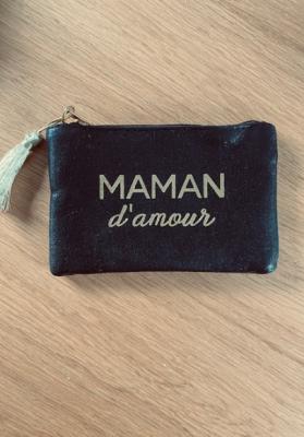 Pochette Maman d'amour Noir brillante Taille S  Mila