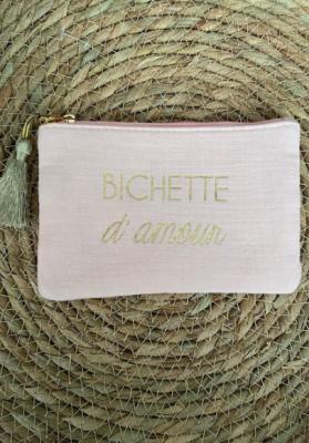 Pochette Bichette d'amour rose Taille S  Mila