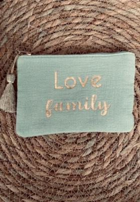 Pochette Love family vert Taille S  Mila
