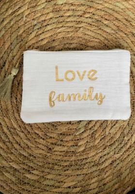 Pochette Love family Ecrue Taille S  Mila