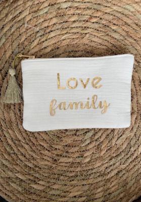 Pochette Love family Blanche Taille S  Mila