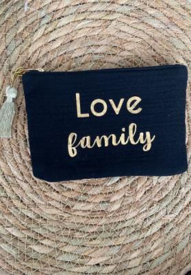 Pochette Love family Noir Taille S  Mila