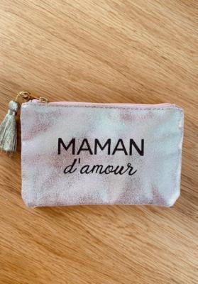 Pochette Maman d'amour Rose gold brillante Taille S  Mila