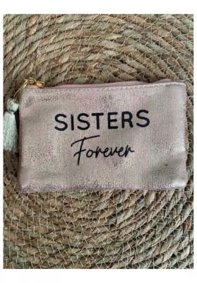 Pochette Sisters forever Rose gold brillante Taille S  Mila
