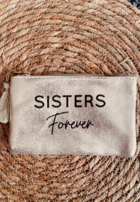 Pochette Sisters forever dorée brillante Taille S  Mila