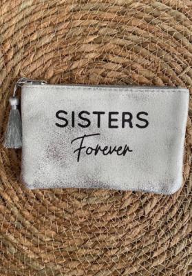 Pochette Sisters forever Argentée brillante Taille S  Mila