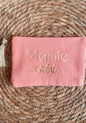 Pochette Mamie chérie Corail Taille S  Mila