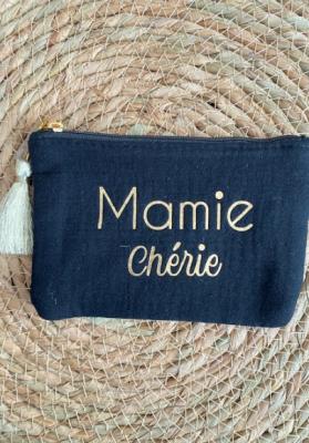 Pochette Mamie chérie Noir Taille S  Mila