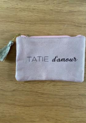 Pochette Tatie d'amour Rose gold brillante Taille S  Mila