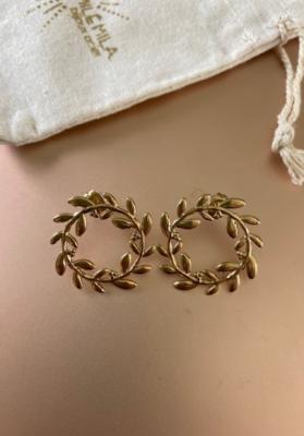 Boucles d'oreilles laurier doré Mile mila