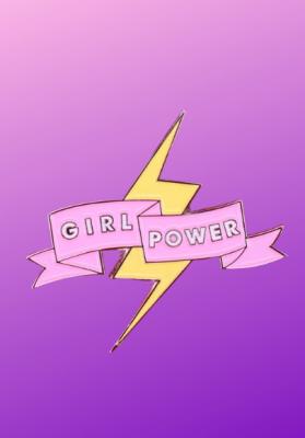 Pin's Girl power rose