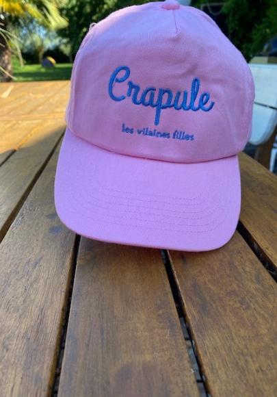 Casquette Enfant brodée Crapule rose pale