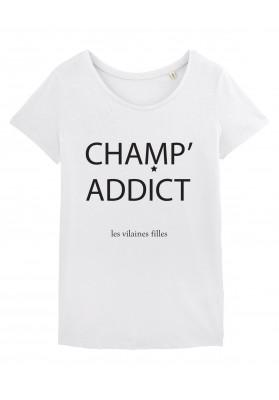 Tee-shirt col rond champ' addict bio