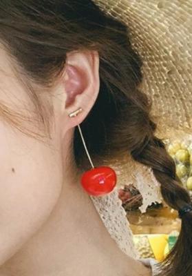 Boucles d'oreilles Cerises bigarreau