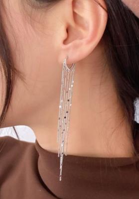 Boucles d'oreilles argentées Victoire