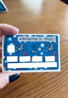 Sticker pour cb Wonderwoman des dépenses
