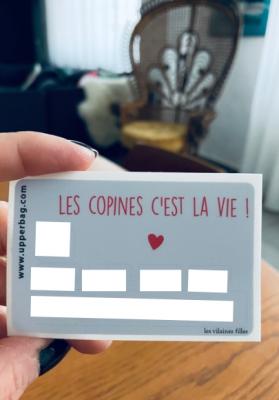 Sticker pour cb Les copines c'est la vie