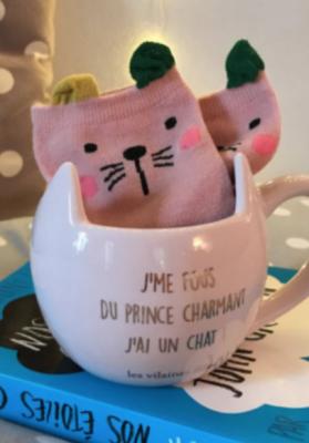 Coffret Mug et chaussettes chat